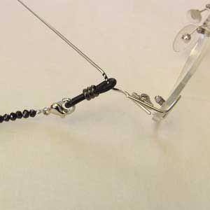 ブラックスピネル あこや本真珠 メガネチェーン 長さ約79cm めがねチェーン 眼鏡チェーン 冠婚葬祭|shinjunomori