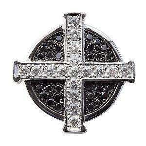 ダイヤモンドブローチ クロスモチーフ ダイヤモンド ブラックダイヤモンド ブローチ ラペルピン タイニーピン ピンズ ピンブローチ 十字架|shinjunomori