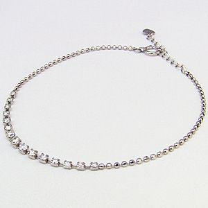 ダイヤモンドブレスレット 0.50 テニスブレス K18 ホワイトゴールド|shinjunomori