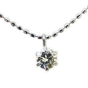 プラチナ ダイヤモンドネックレス ペンダント 一粒 ダイヤ|shinjunomori