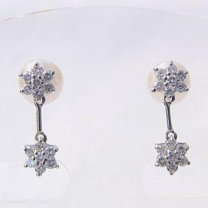 ダイヤモンド ピアス セール 真珠パール 6月誕生石 ピアス ホワイトゴールド 冠婚葬祭|shinjunomori