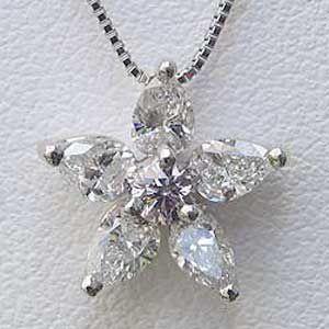 ダイヤモンドペンダント ネックレス K18WG ホワイトゴールド ダイヤモンド ジュエリー|shinjunomori