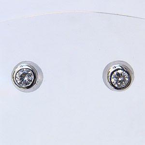 ダイヤモンドピアス ダイヤピアス ダイヤモンド ピアス ダイヤ 0.20ct ホワイトゴールド K18WG シンプル|shinjunomori