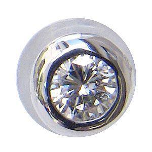 ダイヤモンド ピアス K18WG ホワイトゴールド シリコンキャッチ付き 片耳用ピアス|shinjunomori