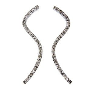 S字ピアス ダイヤモンド ダイヤ 0.70カラット K18WG ホワイトゴールド 品質保証書 ケース付 shinjunomori