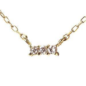 ペンダント ネックレス ダイヤモンド 0.03ct K18 ダイヤモンドネックレス ペンダント 4月誕生石 送料無料|shinjunomori