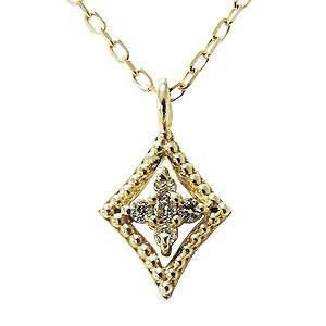 ダイヤペンダントネックレス ダイヤモンド 0.02ct 18金 ゴールド K18 ネックレス チェーン付 ダイアモンド 送料無料|shinjunomori