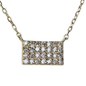 ダイヤモンド ダイヤモンドペンダントネックレス ダイヤ 0.14ct 18金 ゴールド K18 ダイヤネックレス チェーン付 送料無料|shinjunomori