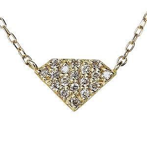 ダイヤモンド ダイヤモンドペンダントネックレス ダイヤ 0.09ct 18金 ゴールド K18 ダイヤネックレス チェーン付 送料無料|shinjunomori
