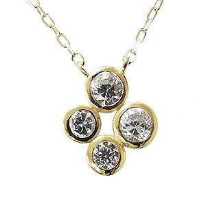 ペンダントネックレス ダイヤモンド 18金 K18 イエローゴールド チェーン付き 品質保証書 無料ギフト|shinjunomori