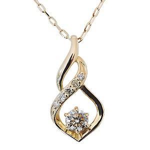 ネックレス ペンダント ダイヤモンドネックレス ダイヤモンドペンダント ダイヤモンド 0.23ct K18 ゴールド チェーン付き 送料無料|shinjunomori