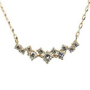 ペンダントネックレス ダイヤモンド 0.50ct K18 ゴールド チェーン付き 送料無料|shinjunomori