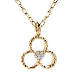 ダイヤモンド ゴールド K18 ネックレス ペンダント プチネックレス ダイヤ 0.01ct チェーン付き 品質保証書付き ケース付き|shinjunomori
