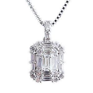 ダイヤモンド  ダイヤモンドペンダントネックレス 0.40ct台 ホワイトゴールド K18WG ダイヤネックレス チェーン付 送料無料|shinjunomori