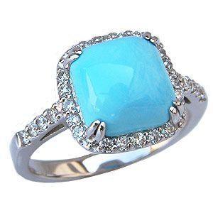ターコイズ トルコ石 リング ダイヤモンド 0.40ct ホワイトゴールド 指輪 ターコイズブルー shinjunomori