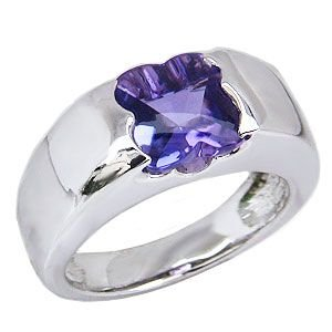 アメジストリング 紫水晶 指輪 ホワイトゴールド K18WG アメジスト 2月誕生石 shinjunomori