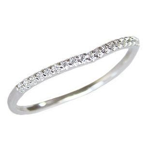 ダイヤモンド リング エタニティリング 指輪 ダイヤモンド 0.09ct エタニティ K18WG ホワイトゴールド|shinjunomori