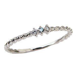ブルーダイヤモンドリング 0.03ct スリーストーンリング ダイヤ 指輪 プラチナ PT900|shinjunomori