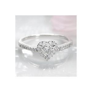 指輪 レディース プラチナ ダイヤ リング ハート 人気 可愛い ギフト プレゼント 0.45ct|shinjunomori