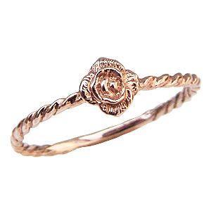 バラモチーフ リング K18ピンクゴールド 薔薇 指輪|shinjunomori