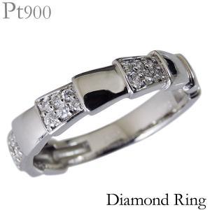 リング デザインカット 0.12ct ダイヤモンド PT900プラチナ レディース diamond ダイヤ|shinjunomori