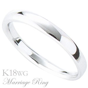 マリッジリング 結婚指輪 高品質 K18 ホワイトゴールド メンズ 1bm|shinjunomori