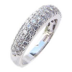 ダイヤモンド リング 1.00ct プラチナ 指輪 パヴェ PT900|shinjunomori