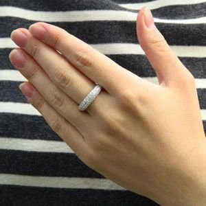 ダイヤモンド リング 1.00ct プラチナ 指輪 パヴェ PT900|shinjunomori|02