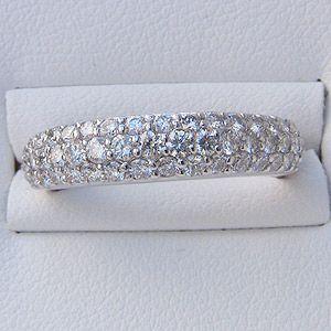 ダイヤモンド リング 1.00ct プラチナ 指輪 パヴェ PT900|shinjunomori|03