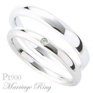 マリッジリング 結婚指輪 高品質 ペア2個セット ダイヤモンド PT900 プラチナ 1ads shinjunomori