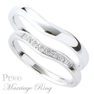 マリッジリング 結婚指輪 高品質 ペア2個セット ダイヤモンド PT900 プラチナ 3ads shinjunomori