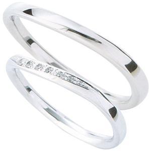 マリッジリング 結婚指輪 高品質 ペア2個セット ダイヤモンド PT900 プラチナ 5ads|shinjunomori|02