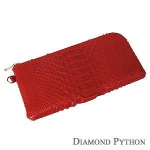 男性用 メンズ ダイヤモンドパイソン 長財布 サイフ 財布 さいふ ウォレット ヘビ革 へび革 国産 男女兼用|shinjunomori
