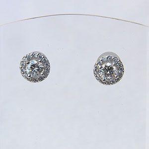 メンズ ダイヤモンド ピアス PT900 プラチナ900 シリコンキャッチ付き|shinjunomori