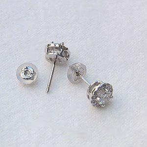 メンズ ダイヤモンド ピアス PT900 プラチナ900 シリコンキャッチ付き|shinjunomori|04