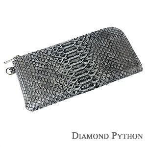 メンズ 男性用 ダイヤモンドパイソン 長財布 サイフ 財布 さいふ ウォレット ヘビ革 へび革 国産 男女兼用|shinjunomori