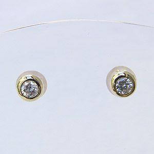 メンズ ダイヤモンド ピアス K18 ゴールド|shinjunomori