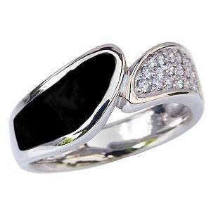 オニキス メンズリング オニキス男性用指輪 ダイヤモンド ホワイトゴールド 男性用リング 8月誕生石 パワーストーン|shinjunomori
