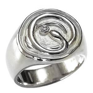 スネークリング ヘビリング メンズリング ダイヤモンドリング 蛇モチーフ 指輪 印台リング へび メンズ 男性用 PT900プラチナ 送料無料|shinjunomori