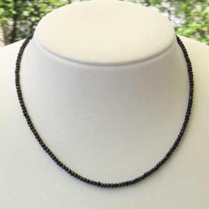 ブラックスピネル メンズ ブラックスピネルネックレス 長さ約40cm|shinjunomori