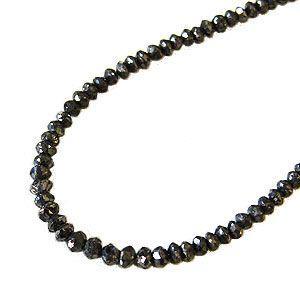メンズ ネックレス ブラックダイヤモンド 20.30ct ホワイトゴールド 男女兼用|shinjunomori