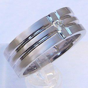 メンズ ピンキーリング ダイヤモンド リング ホワイト ゴールド 指輪|shinjunomori