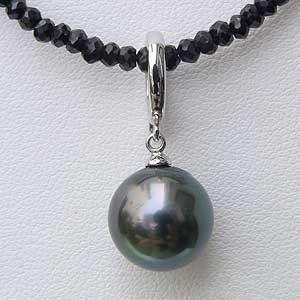 メンズジュエリー 真珠パール ネックレスペンダント 黒真珠 ホワイトゴールド メンズ 6月誕生石 shinjunomori