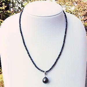 ネックレス パール 黒真珠パール ブラックスピネル ネックレス 冠婚葬祭|shinjunomori