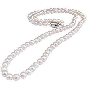 真珠 パール ネックレス 冠婚葬祭 結婚式 限定10本 あこや本真珠 全長約83cm ホワイトピンク系 パールロング バロック型|shinjunomori