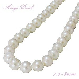 真珠 パール ネックレス 冠婚葬祭 結婚式 フォーマル あこや本真珠 7.5-8mm 品質保証書付き|shinjunomori