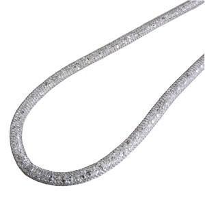 クリスタルソックスチェーン クリスタルソックスネックレス ホワイトカラー 全長48cm 送料無料 ソックス チェーン|shinjunomori
