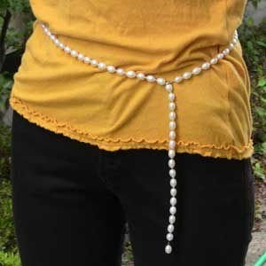 卒業式 ロングネックレス レディース パーティー 結婚式 ネックレス 真珠 淡水パール ネックレス シルバー 真珠 パール 冠婚葬祭|shinjunomori|04