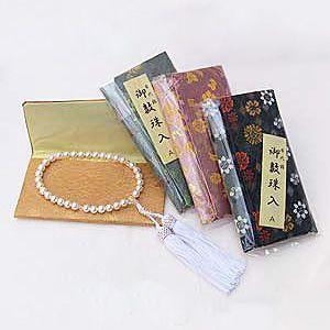 紅水晶 ローズクォーツ 念珠 数珠 7m 丸玉 房ピンク色 念珠ケース付き 女性用|shinjunomori|05