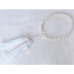 数珠 パール 真珠 念珠パールあこや真珠 冠婚葬祭|shinjunomori